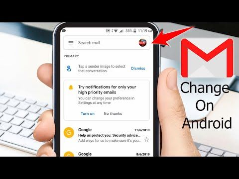How To Change Gmail Profile Picture On Android Youtube Profile Picture Android Change