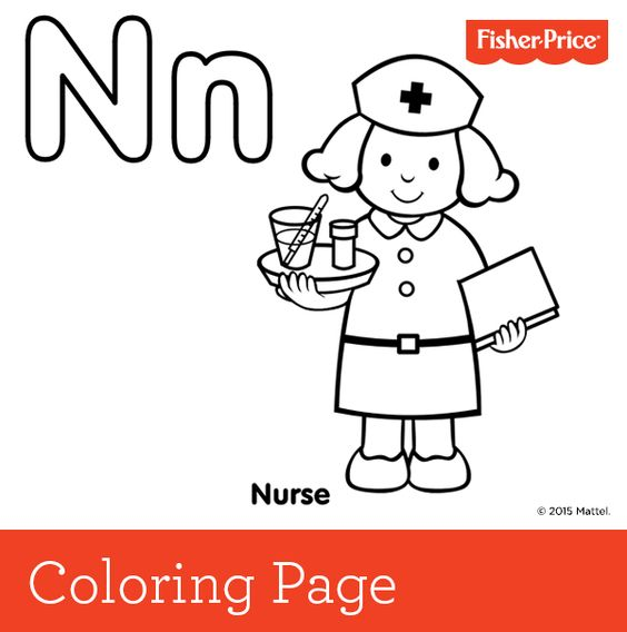 child nurse coloring pages - photo#35