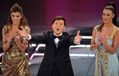 Belen Rodriguez, Gianni Morandi, Elisabetta Canalis Sanremo 2012