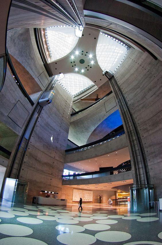 Mercedes-Benz Museum Entrance Hall, Stuttgart, Germany . During my esslingen trip.  :D