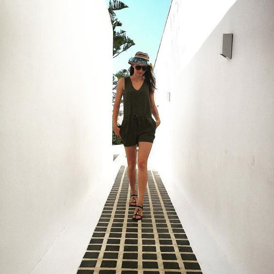Wearing a light jumbsuit and sandals! Ready for a walk !  #Mykonos #MyconianUtopiaResort #fashion #Outfit