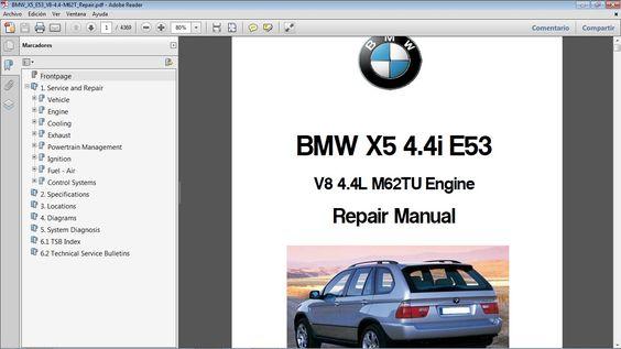 BMW X5 4.4i E53 Workshop Repair Manual - Manual de Taller in 2020   Bmw x5,  Repair manuals, RepairPinterest