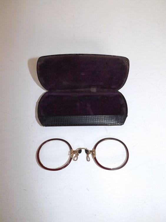 Vintage Pince-Nez pinch nose Spectacles Glasses by 4getmenotshop
