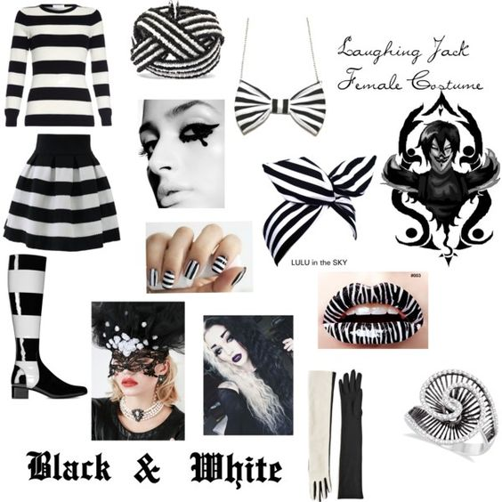 Laughing Jack Female Costume by rythmicbeat on Polyvore featuring art