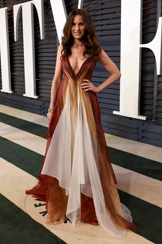 Pin for Later: See Which Stars Let Their Hair Down at Vanity Fair's Oscars Afterparty! Andie MacDowell