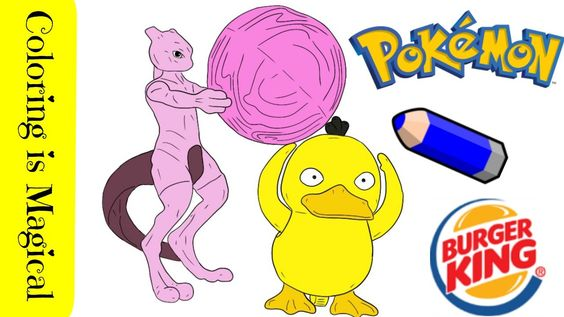 Detective Pikachu Burger King Toys Mewtwo Psyduck In 2020 Pikachu Coloring Page Coloring Pages Pokemon Coloring Pages