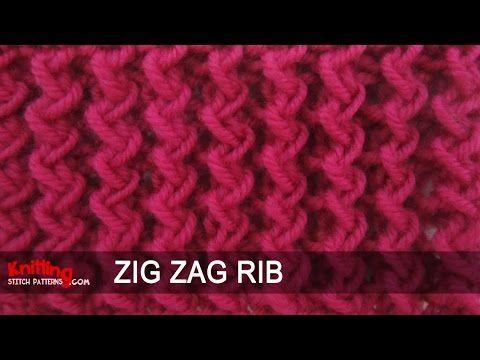 Zig Zag Rib Stitch - YouTube TRICOT ViDEOS Pinterest Videos, Stitches a...