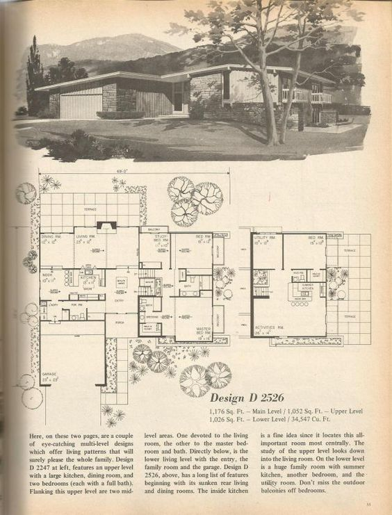 Vintage house plans vintage houses and house plans on for 1970s house floor plans