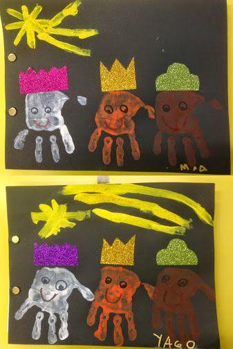 PORTADA TRABAJOS NAVIDAD - Materiales: Cartulina, papel, pintura, gomaeva, cola - Nivel: Infantil