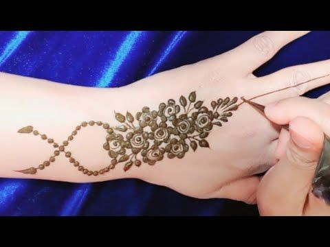 Most Easy Floral Henna Mehndi Design For Eid نقش حناء للعيد من اسهل ما Floral Henna Designs Henna Tutorial Mehndi Designs