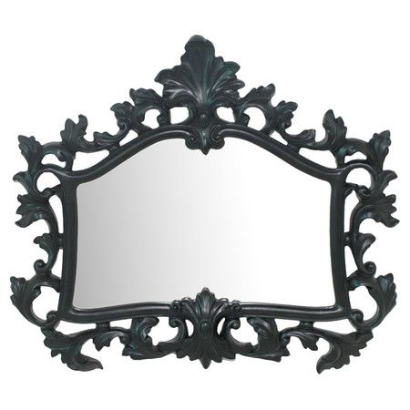 fun!: Mirrorconstruction Material, Black Framefeatures, Wall Mirrors, Artful Touch, Wall Mirrorconstruction, Black Wall
