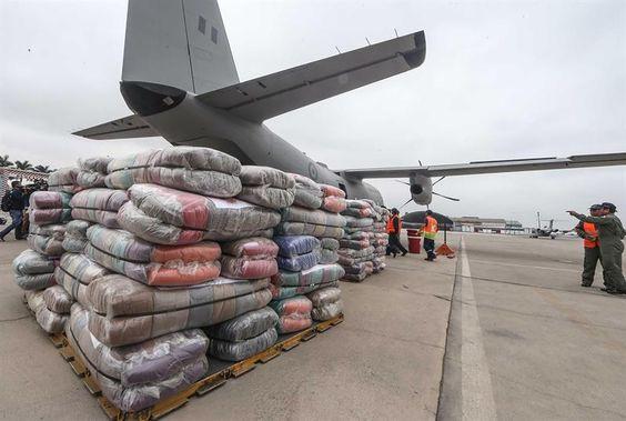 Perú envió 21 toneladas de ayuda humanitaria a Ecuador