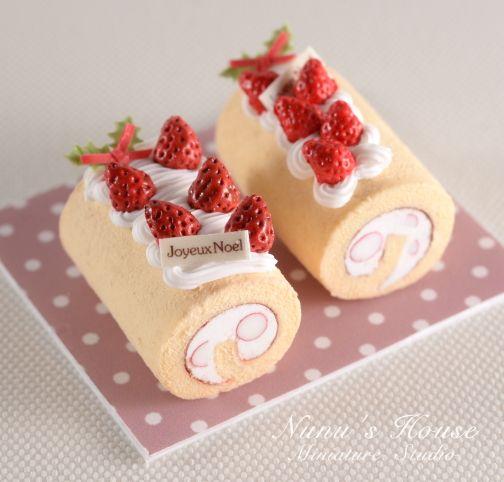 2 perfect strawberry cake rolls from NuNu's House by Mr.Tomo Tanaka