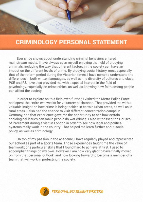 Criminology personal statement example that will help you impress - personal statement format
