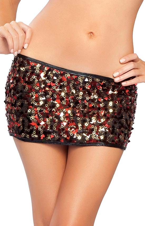 Gold and Red Sequin Skirt by Roma | Golden Glamour | Pinterest ...