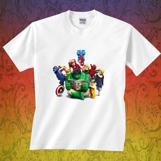 lego marvel super heroes  t shirt by franciskashop on Etsy