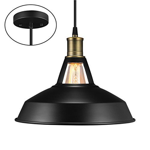 Salking Metal Industrial Pendant Light Vintage Barn Hang Https