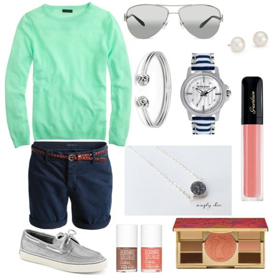 Simple & Casual by southerncoasts on Polyvore featuring Sperry Top-Sider, Blue Nile, FOSSIL, Tiffany & Co., tarte and simplychic.me