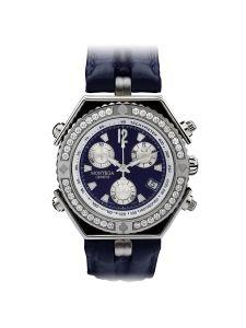 Montre Montega - Elie Chatila, acier, diamants, argent, tachymètre, MC 04.142