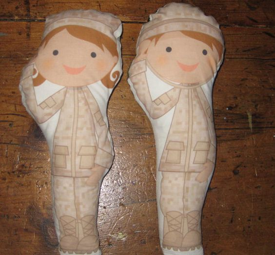 Military Boy or Girl Plush Stuffed Doll by mobilemommydesigns