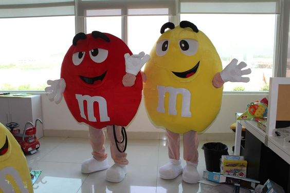 mascot Blue Green Orange Red Yellow M&M Chocolate Candy Mascot Costume Adult Cartoon Character Costumes Carniva: