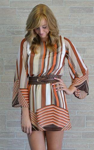 70's Inspired Shift Dress