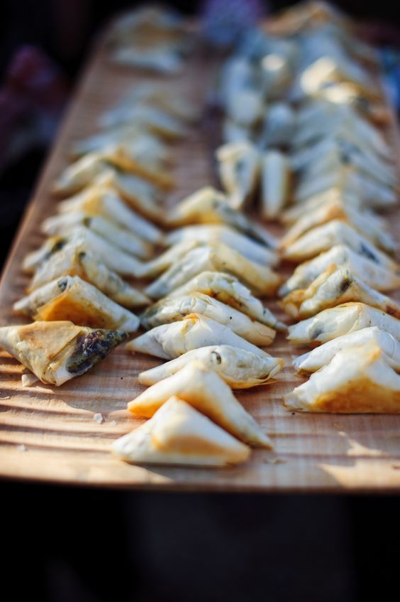 Canap s spinach and feta filo treats pinterest for Canape wedding