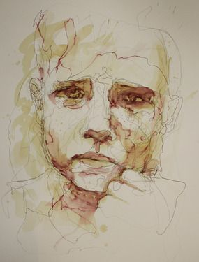 "Saatchi Online Artist Carne Griffiths; Drawing, ""tristesse"" #art"