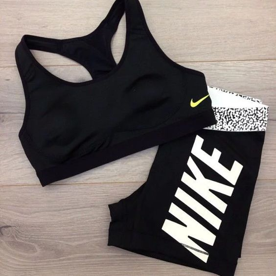 All Black Nike Fitness Outfit on We Heart It