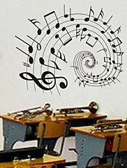 Doudouwo® Wall Stickers Wall Decals, Music the Beautiful Notes PVC Wall Stickers