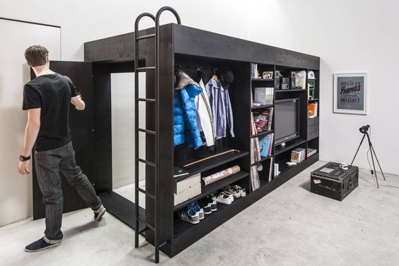 Living cube space-saving bed