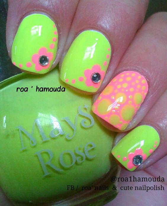 Neon green nails   uñas   Pinterest   Arte uñas, Essie y Uñas verdes