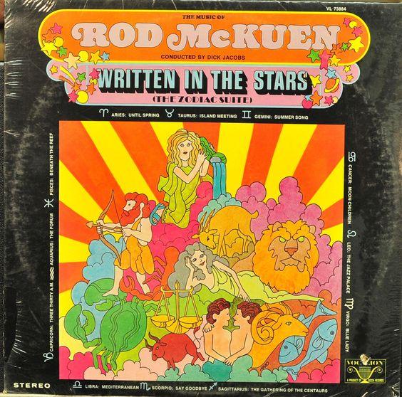 Rod Mckuen Written In The Stars Cancer Kids Summer Songs Vinyl Record Album