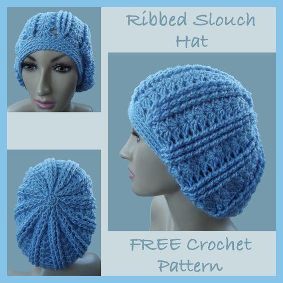 Ribbed Slouch Hat Crochet - Scarves, Hat & Gloves ...