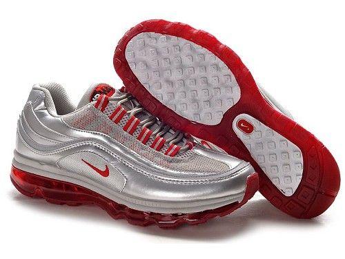 ナイキ Nike エアマックス 24-7 メタリック シルバー / バーシティ レッド / ブラック Nike0191