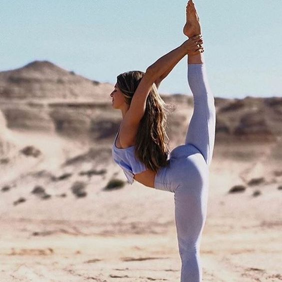 """""""There is nothing prettier in the world than a girl in love with every breath she takes."""" ~ @atticuspoetry #yogapose : @aminahtaha via @aloyoga"""