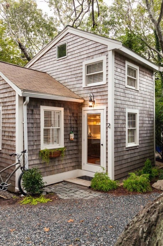This is a 350 sq. ft. tiny cottage in Cape Cod redesigned by Christopher Budd and re-built by Cape Associates, Inc.