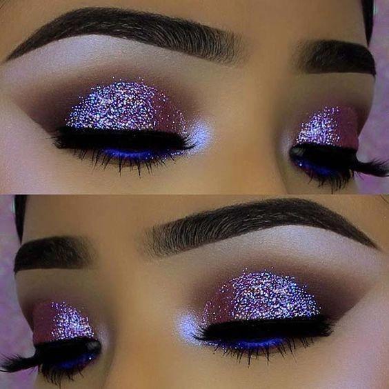 43 Glitzy Nye Makeup Ideas Glitter Eye Makeup Nye Makeup Makeup