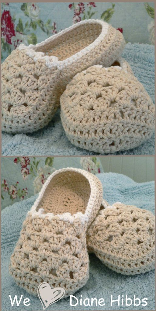 Free crochet slipper patterns, Yarns and Crocs on Pinterest