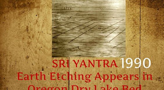Huge Sri Yantra appears on a dry lake bed! How?