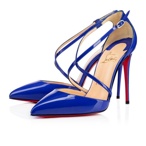 christian loubatan shoes - CROSS BLAKE PATENT Electric 100mm   Shoes!   Pinterest   Red Sole ...