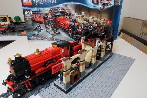 Motorized Hogwarts Express Lego Train With New Powered Up System Gjbricks Lego Hogwarts Lego Harry Potter Lego