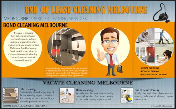 http://www.sparkleoffice.com.au/ Sparkle cleaning services Melbourne is actually a cleaning service where now we have fully experienced staff who also have police check qualification. We specialise in end of lease cleaning ,commercial cleansing services performing general cleaning duties at the professional standard. We are flexible with several hours/days of the week. Customer support is guaranteed.