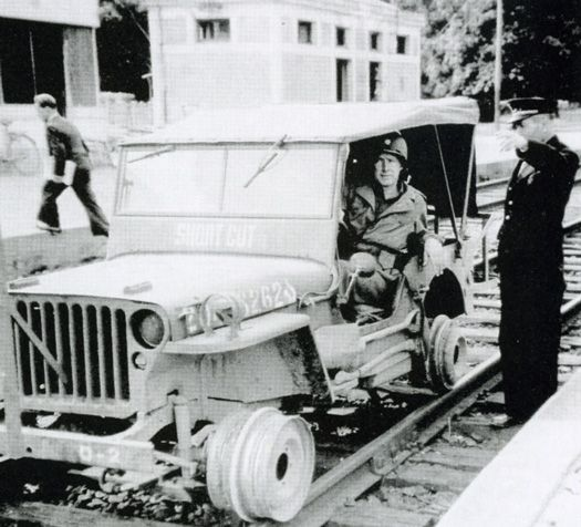 """he Willys MB rail fitting above (called a                   """"Short Cutâ€) was created because although many 3rd                   world countries had established rail systems, working                   roads were in short supply. This innovation was a                   success."""