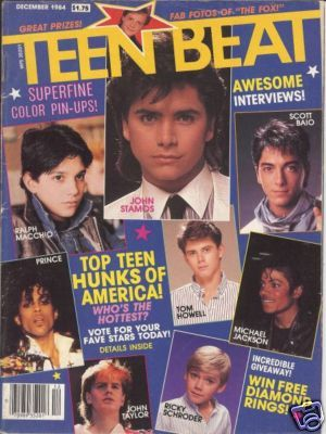 Teen Beat magazine - I had the major hots for Corey Haim, Scott Baio, Ralph Macchio and the list could go on...my walls were plastered with these guys!
