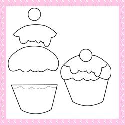 Patchwork moldes cupcake para patch aplique