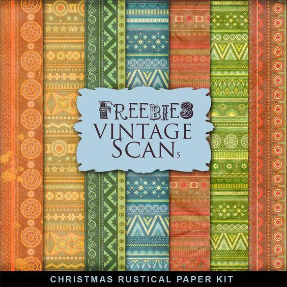 Freebies Christmas Rustic Paper