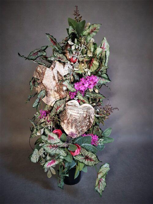Sztuczne Kwiaty Na Grob Do Wazonu Bukiety Na Cmentarz Floral Wreath Christmas Wreaths Floral