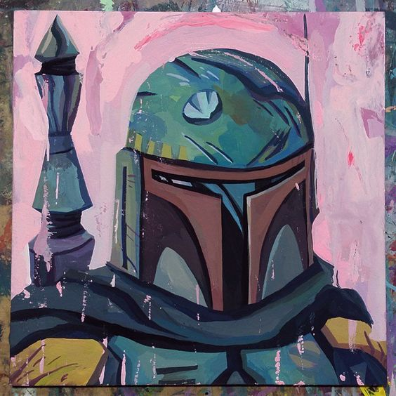 Painted a new Boba Fett for May the Fourth Be With You. Original available in the shop link in bio.