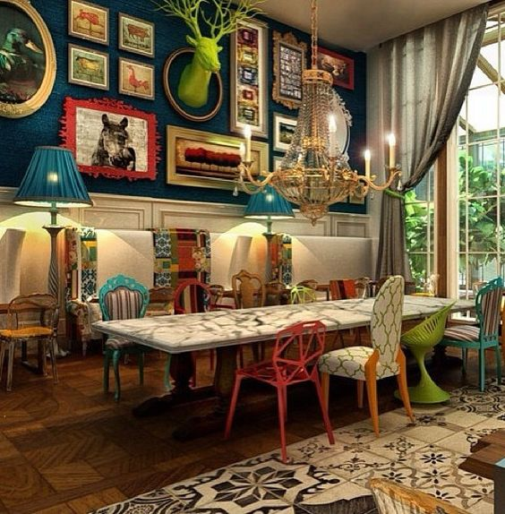 Three no fail rules for an eclectic style alice in for Tea room interior design ideas